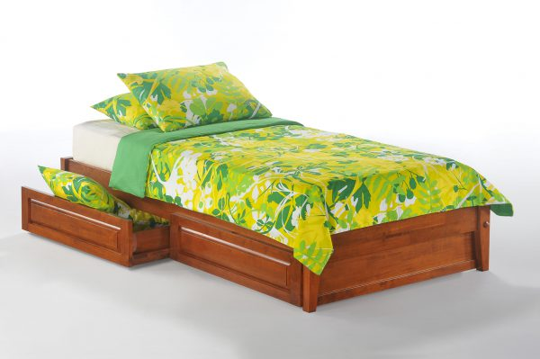 Basic bed frame night day futon d 39 or natural for Basic twin bed frame