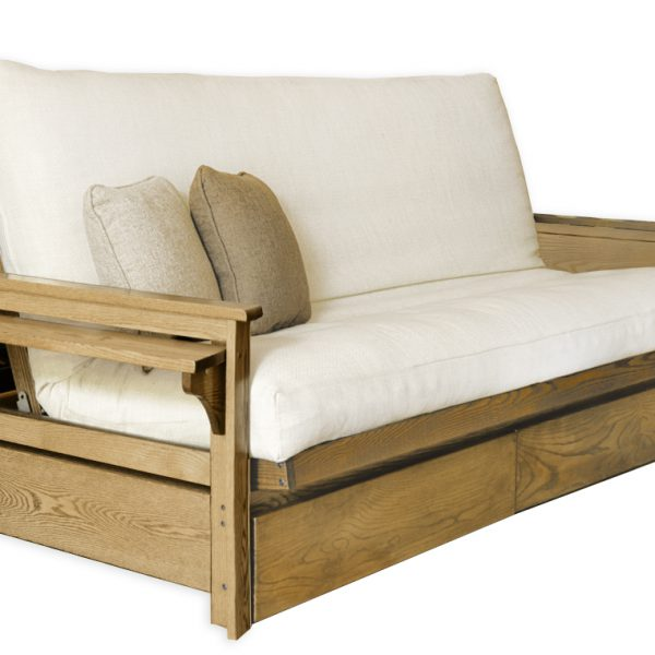 Medium image of ottawa tablette tiroirs base de futon ottawa oak futon frame