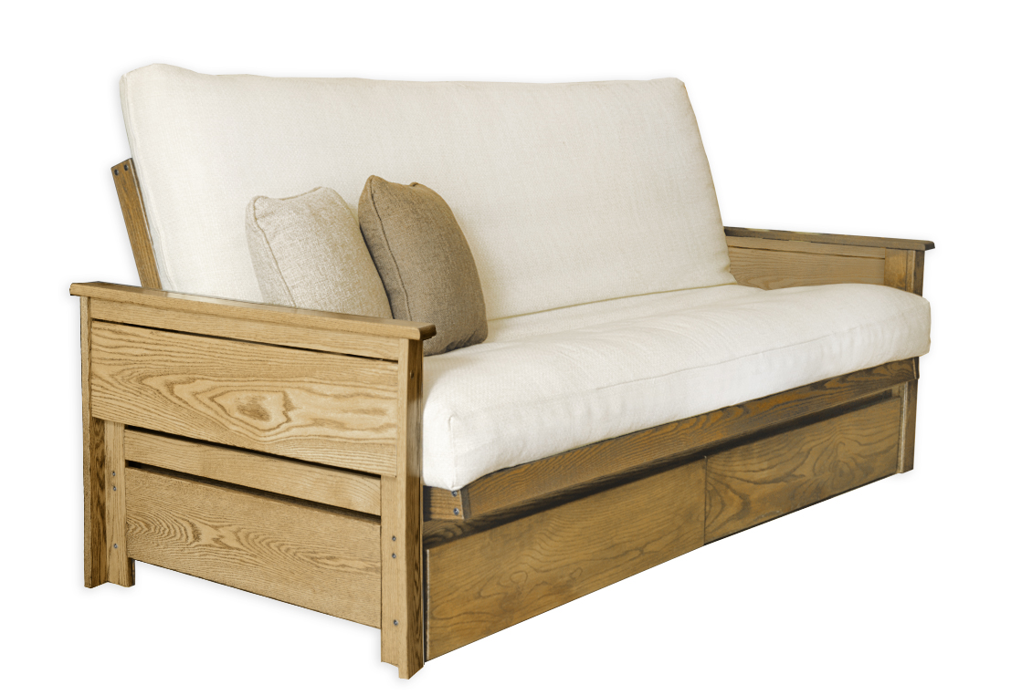 Ottawa Oak Futon Frame Home Sofa Bed