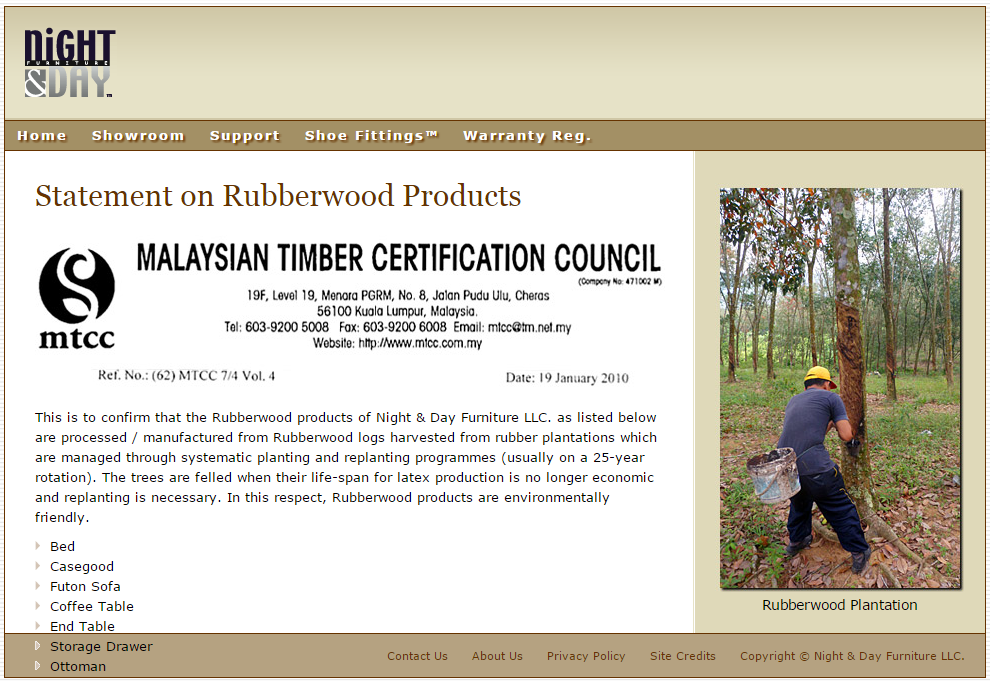 rubberwood certification