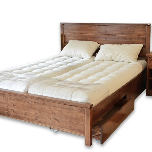 seoul_brun base lit  bois wood bed frame
