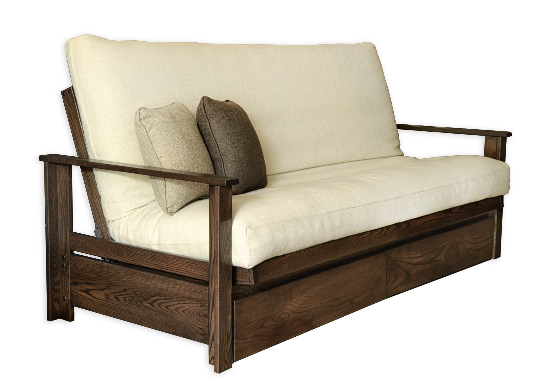 Sherbrooke with Drawers Frame and Futon Kit - Futon d\'or & Natural ...