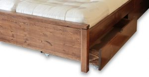 tiroirs drawers seoul_brun base lit bois wood bed frame