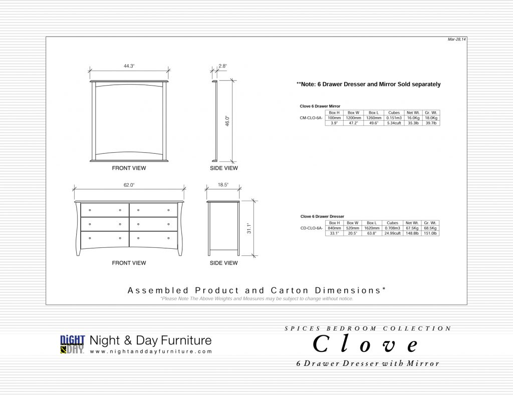 Clove-6-Drawer-Dimensions