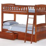 cinnamon twin twin bunk cherry w drawer openedfuton