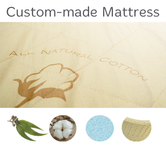 Custom made mattress futon d 39 or natural - Matelas capitonne sur mesure ...