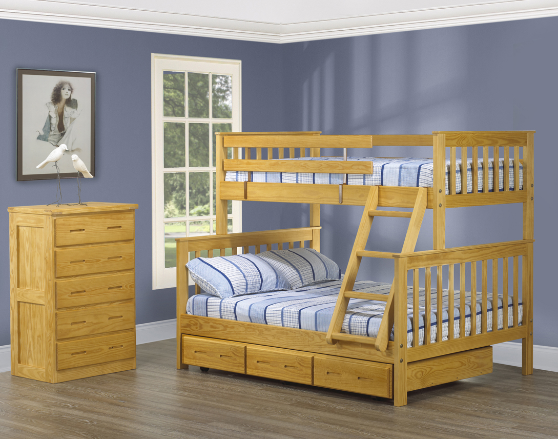 Picture of: Mission Bunk Bed Double Twin Futon D Or Matelas Naturelsfuton D Or Matelas Naturels