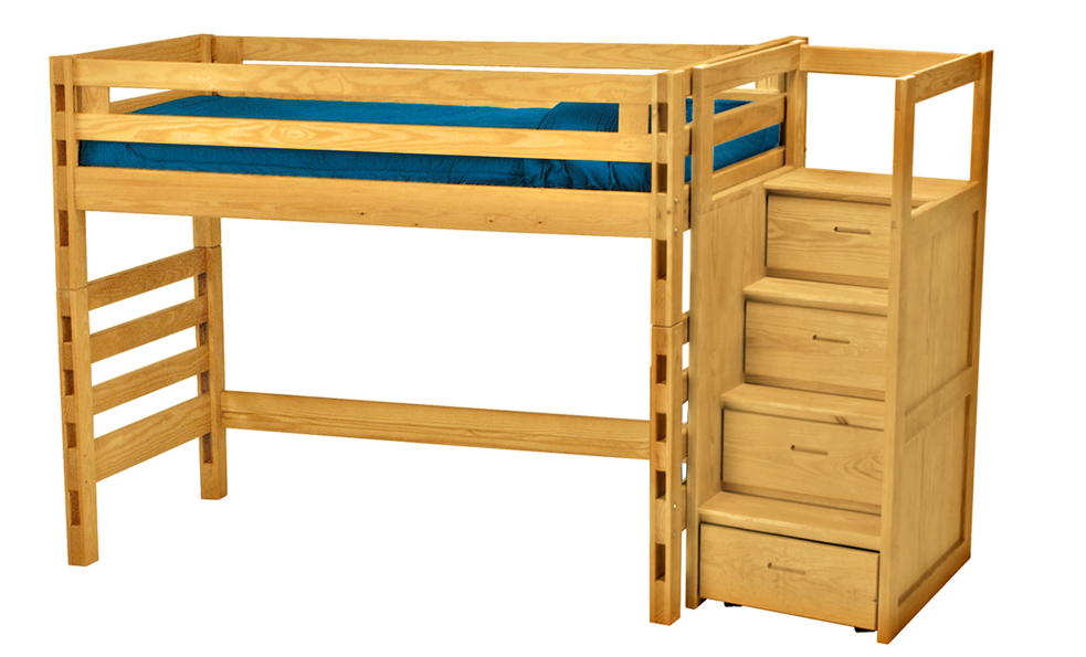 Crate Designs Loft Bed With Student Desk Futon D Or