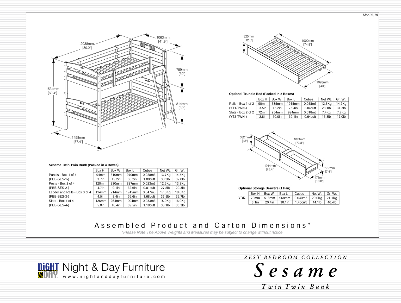 Sesame Kid Bunkbed Night Day Futon D Or Natural