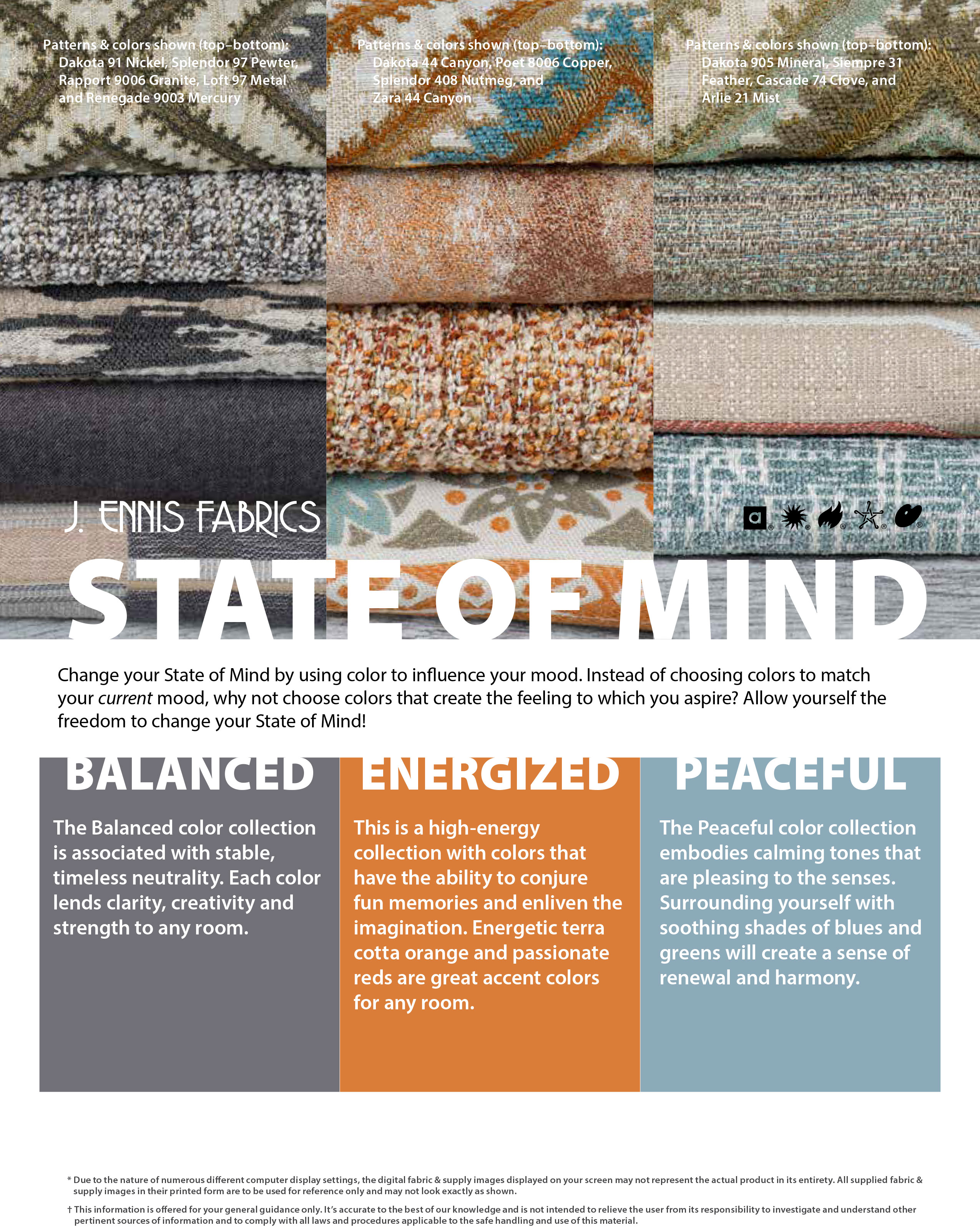 Colors may not represent actual product - Collection State Of Mind En