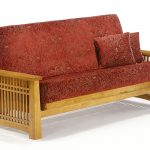 Futon Solstice Arm Honey Oak